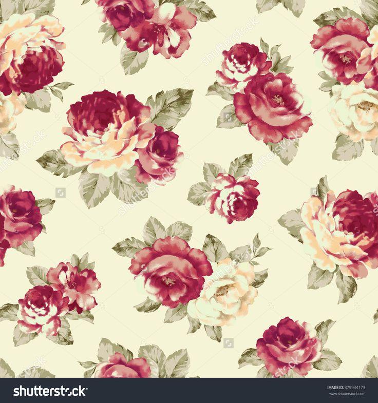 Rose Illustration Pattern - 379934173 : Shutterstock