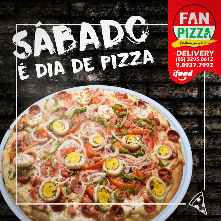 Sábado é dia de reunir os amigos e saborear o que temos de melhor!<br />Delivery 📞 3295.8612 | 98939.7992 ou da uma passadinha em nossa loja 😉 Estamos aguardando todos vocês! #pizza #FanPizza #PizzadoDia #SaboresdeFortaleza #Instafood #crepes #calzone