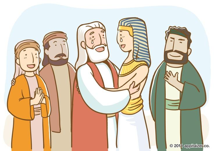 Joseph met his father.