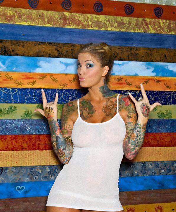 Janine Lindemulder | Janine tattoos! | Pinterest