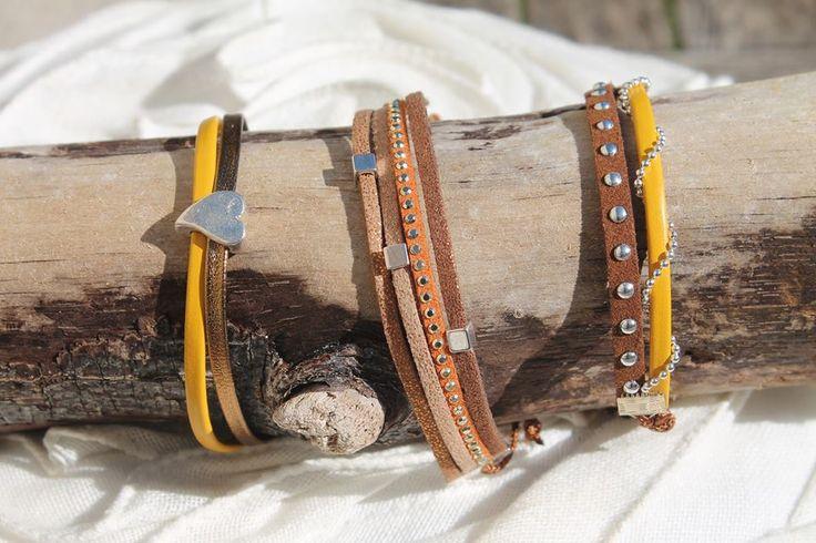 L'Atelier des Voisines Leather Bracelet / Bracelet en cuir