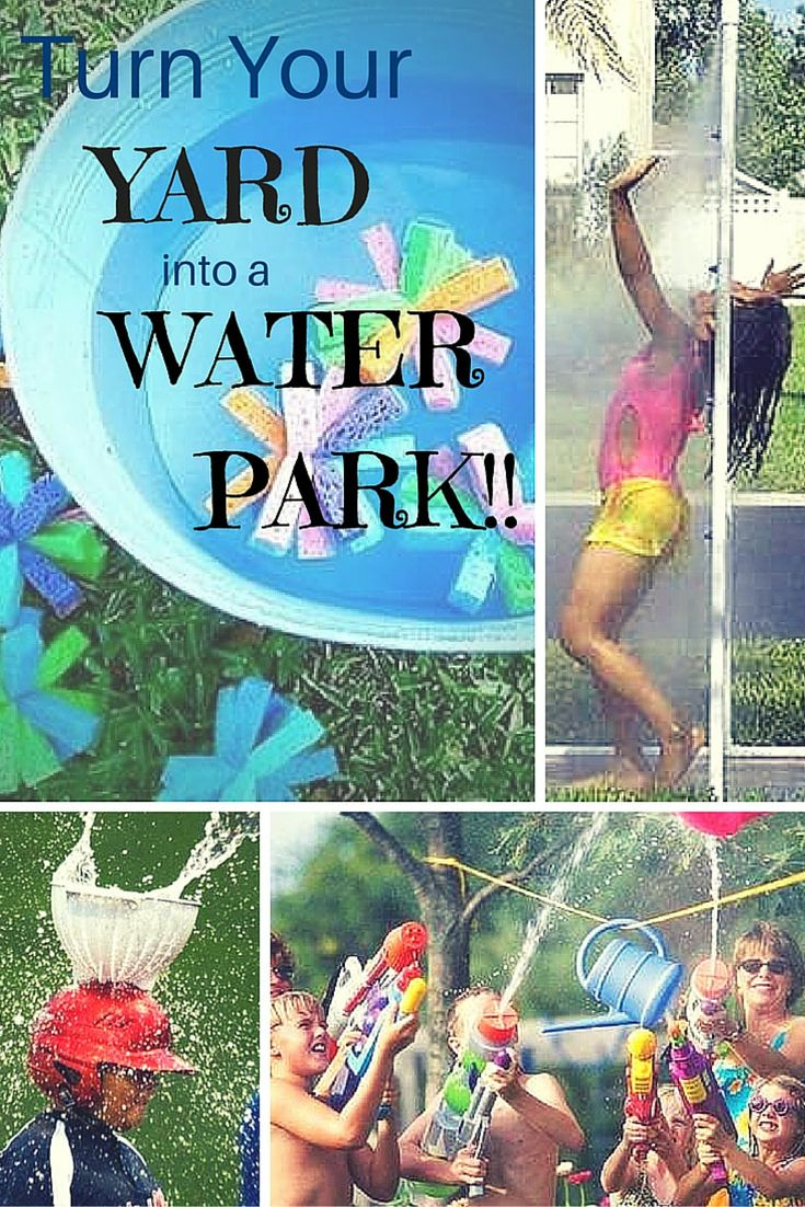 These fun projects will help you transform your backyard into a full on water park for the kids this summer! Prepare to get wet!