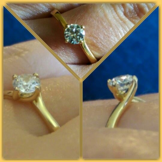 My #engagement ring #round cut #half carat
