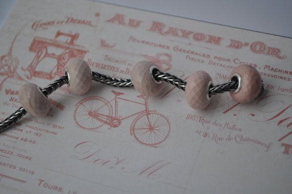 Natural Rose Opal gemstone bead for Pandora or от WiseOwlBead