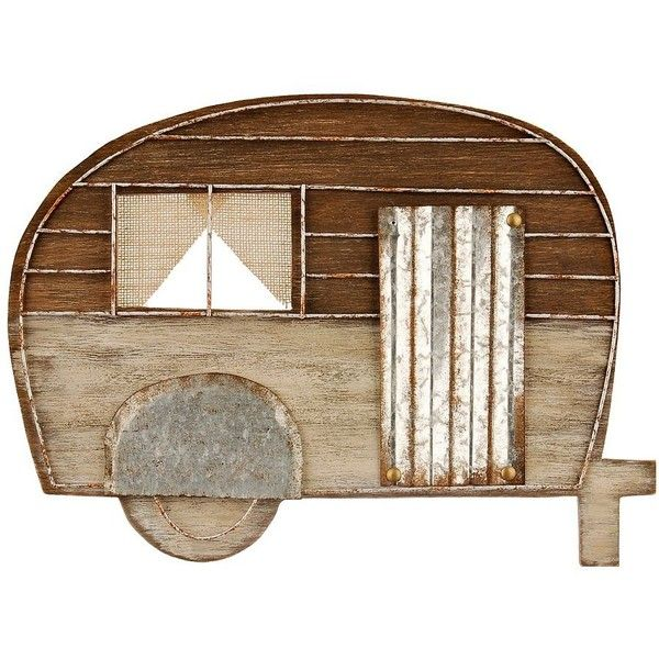 Rustic Camper Wall Plaque (€15) ❤ liked on Polyvore featuring home, home decor, wall art, rustic home accessories, rustic home decor, wall plaques, wall home decor and rustic wall art