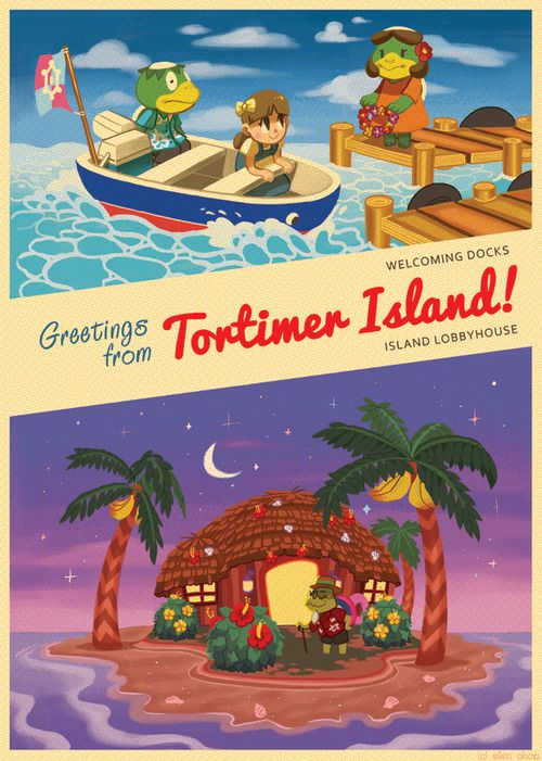 129 best all animal crossing images on pinterest video games animal crossing fan art greetings from tortimer island m4hsunfo Images