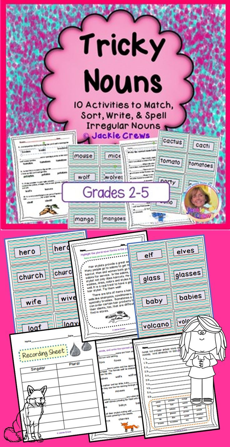 This tricky noun packet includes 40 different IRREGULAR NOUN FORMS WITH THEIR MATCHING PLURALS for a total of 80 cards. This product is designed to be differentiated. You can use as many or as few cards as needed. The cards could be used for memory games, matching, sorting, or for placing around the room as a scavenger hunt, too.