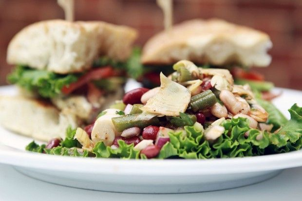 Zodiac Cafe in Neiman Marcus:  fresh approach to bean salad