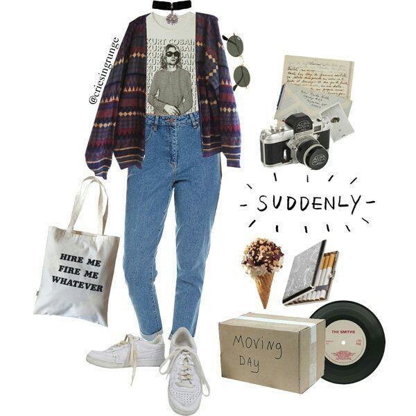 flannel + tucked in shirt+ skinny jeans + converse + glasses and other accessories
