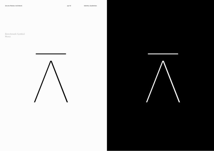 Brand identity guidelines designed by Graphical House for architectural studios Gras & Groves-Raines Architects