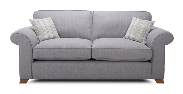 Rupert 3 Seater Formal Back Deluxe Sofa Bed Rupert | DFS