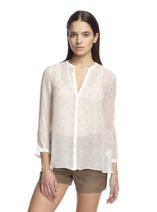 80% OFF Band of Outsiders Women's Long Sleeve Blouse (Snow White)