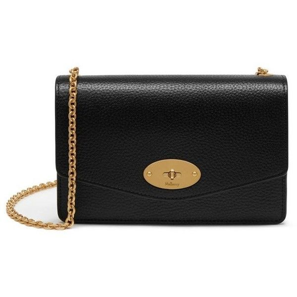 Mulberry Small Darley ($725) ❤ liked on Polyvore featuring bags, handbags, clutches, mini purse, mini pochette, mini handbags, chain strap handbag and chain strap purse