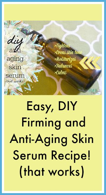 Firming and Anti-Aging Skin Serum Recipe (that works)! This one is definitely going in my regular skincare regimen! www.primallyinspired.com