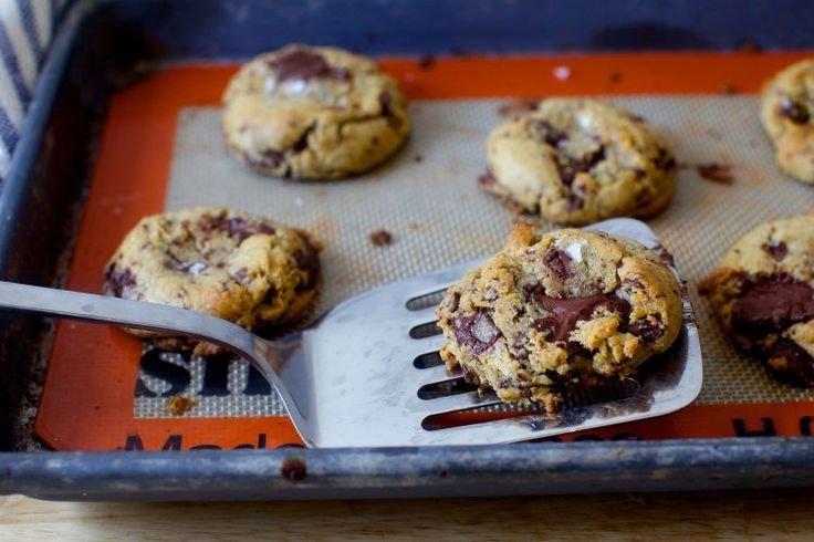Salted Chocolate Chunk Cookies -  made these using M&Ms instead. There is a bit of turbinado sugar in this recipe, don't replace it as it adds a lovely crunch!