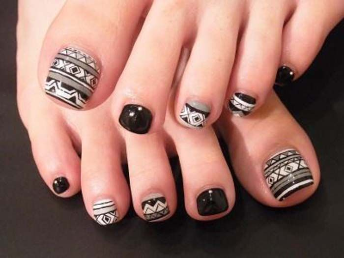 tribal toe nail art - fmag.com
