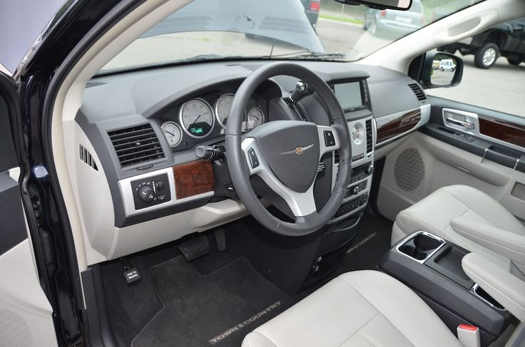 Front Left interior View of the 2010 Chrysler Town and Country Touring PL For Sale