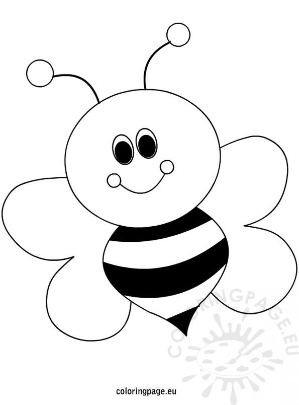 Happy Little Bee Cartoon Bee Coloring Pages Coloring Pages Bee