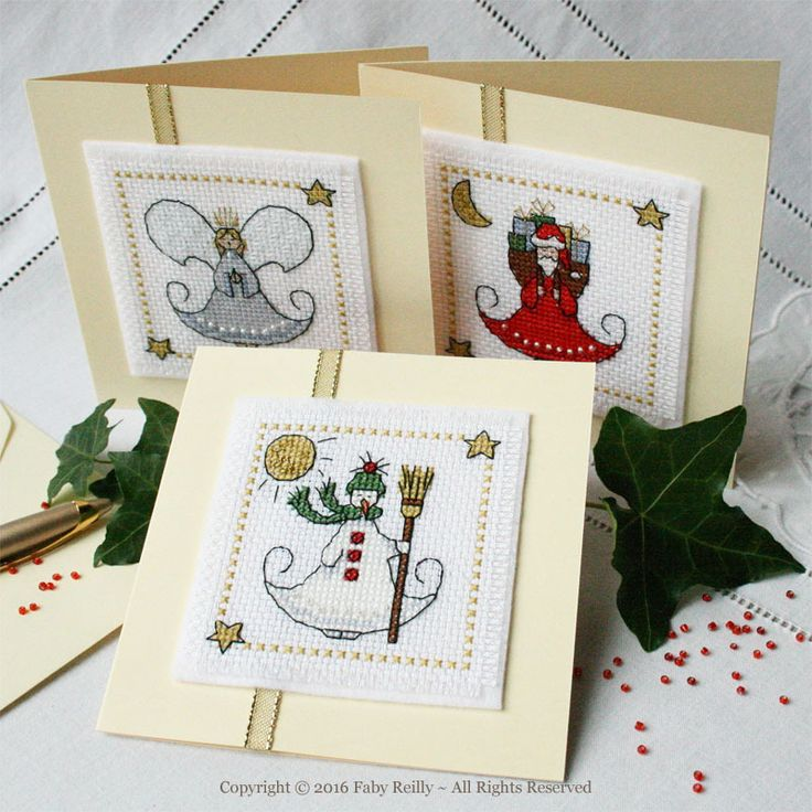 Little Christmas Set of 3 Cards - Faby Reilly Designs