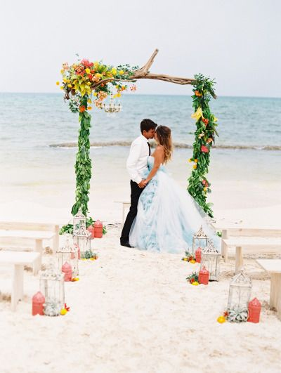 Incredibly romantic beach wedding inspiration: http://www.stylemepretty.com/destination-weddings/2015/02/24/intimate-rosewood-mayakoba-wedding-inspiration/ | Photography: Lane Dittoe - http://lanedittoe.com/