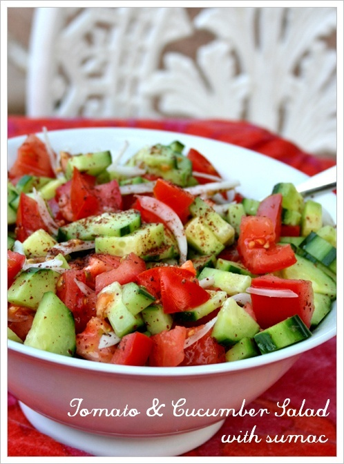 Visit Greece| Greek salad is a summer salad dish made with pieces of tomatoes, sliced cucumbers, green bell peppers, onion, sliced or cubed feta cheese, and olives (usually Kalamata olives, other types of olives may be used as well), typically seasoned with salt and dried oregano, and dressed with olive oil.  We make something similar, and have added dried cranberries -- everyone loves it!