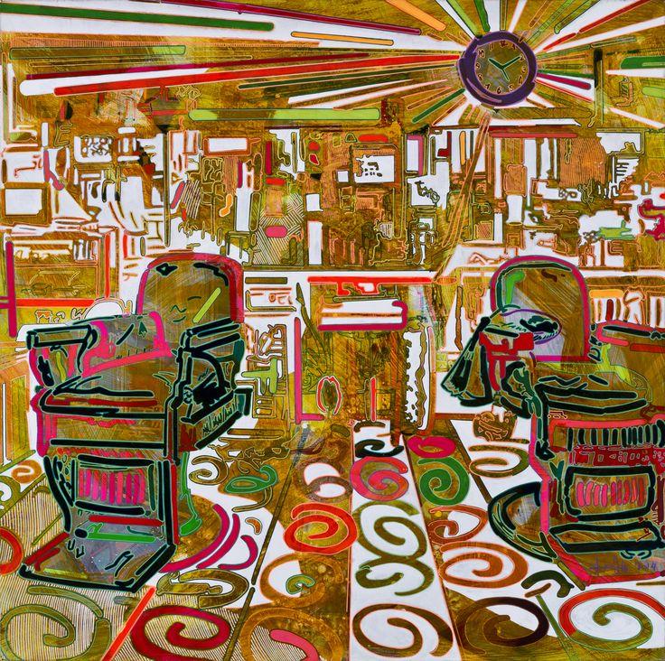 YİĞİT YAZICI Tuval Üzerine Akrilik / Acrylic on Canvas, 150x150 cm, 2014.