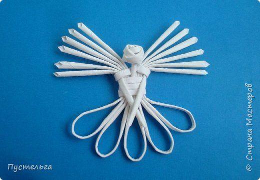 Маленький, лёгкий ангел из восьми трубочек (ёлочное украшение). Сделан для очень хорошего человека - Татьяны )) фото 1