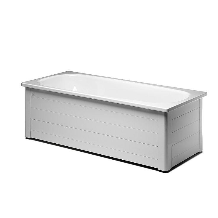 6030203 Duravit  Gustavsberg 1300 Emaljert badekar 1300x700 mm, For Hel/halvfrontstativ