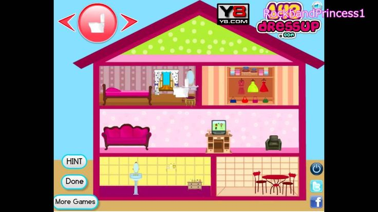 I play barbie house decoration games