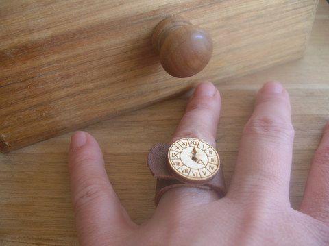Örök idő - Gombolat gyűrű, Ékszer, óra, Gyűrű, Meska