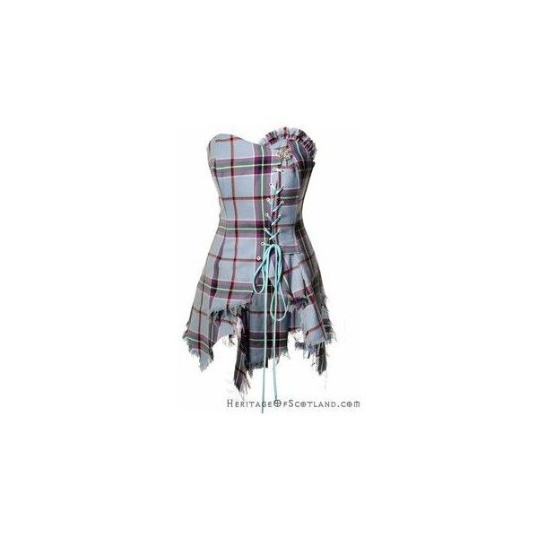 Bella Plaid Corset, Grey Purple LA Check via Polyvore featuring alexander mcqueen