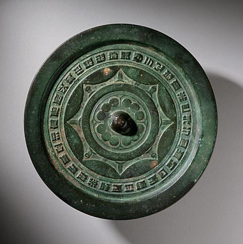 Mirror (Jing) with Eight-pointed Star, China, Eastern Han dynasty, 25-220.   Los Angeles County Museum of Art