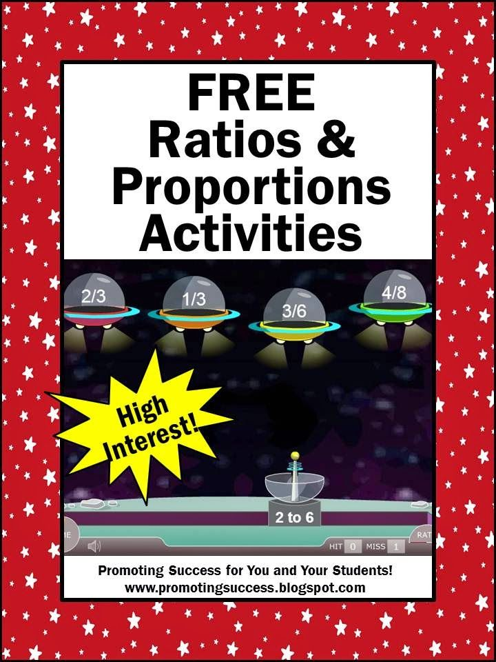 Teacher Printables - Free ratios activities and ideas.  Visit and subscribe to this blog for LOTS of free teaching ideas!