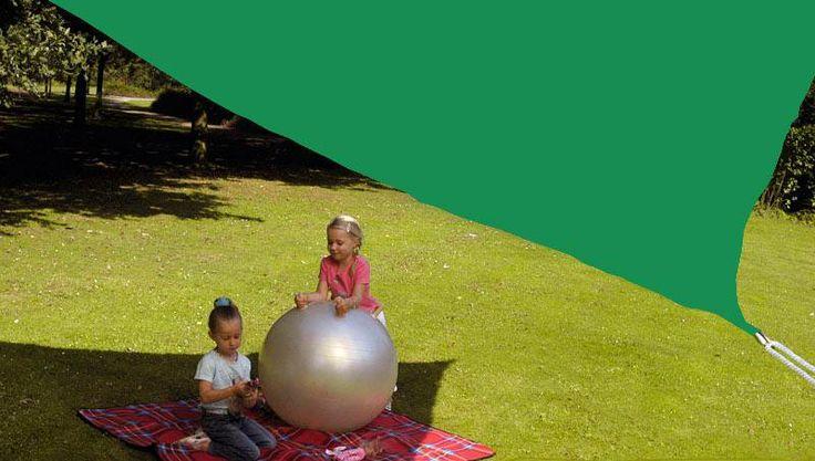 Driehoek zonnescherm  4x4x4m (groen)