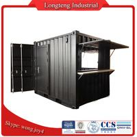 Custom Pop Up 8ft 10ft Shipping Container Coffee Shop for Sale