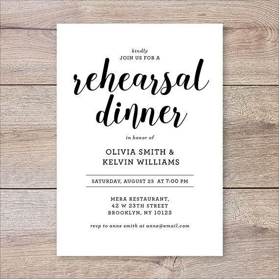 graphic relating to Printable Rehearsal Dinner Invitations called Printable Rehearsal Meal Invitation, The Evening Ahead of