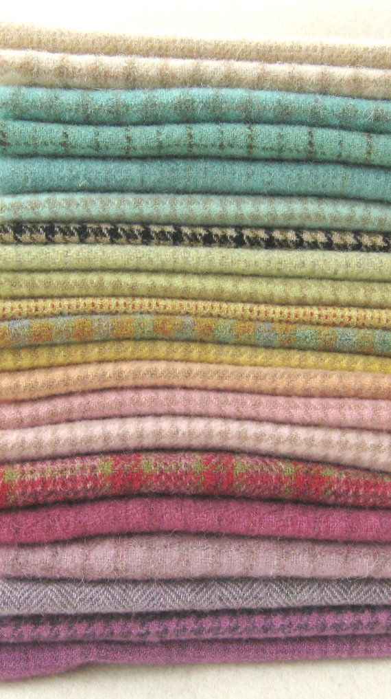 Hand Dyed and Felted Wool Fabric Perfect for Rug by quiltingacres