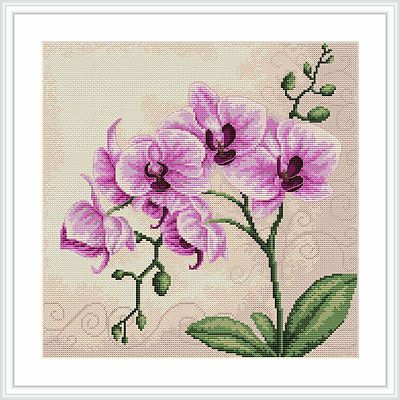 Luca-S Counted Cross Stitch Kit - Orchid | eBay