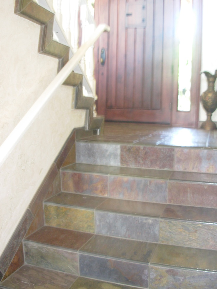 Slate Tile Stairs By Marcus Marty A Glimpse Of Marcus