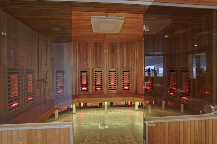 Infrared saunas are popular in wellness clubs and spas.