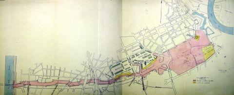 Plan des terrains militaires à céder à la Ville de Grenoble pour la création des boulevards, 1927