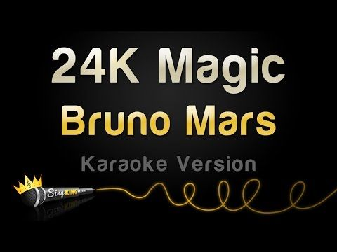 Bruno Mars - 24K Magic (Karaoke Version) - YouTube