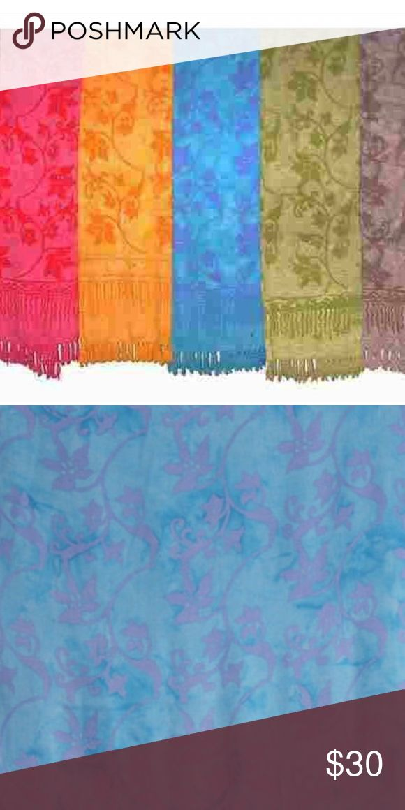 "Multiway Sarongs Wraps Coverups Skirts Headpieces These sarongs make beautiful cover ups, bikini wraps, dresses, head pieces, shawls, tops, skirts and wrap pants.  Other uses: A layout for the beach, wall hangings, curtains, table cloths, a throw and chair covers   Available Colors: ✅Red, Blue and Gold   Details: Measure approximately 66"" x 46"" 100% Rayon Machine Wash Cold  Wash Details: Sarongs wash easily by hand or machine. Strongly suggested to hang to dry for lifetime wear. Wash…"