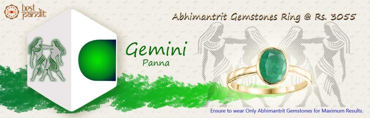 #AajmaKarDekho Abhimantrit Gemstones Ring Gemini ( Panna )......for more details visit http://www.buyrashiratan.com