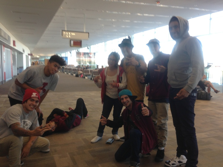 justice crew chilling in adelaide! ;)