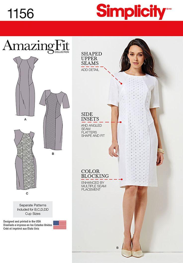 Simplicity - S1156 Misses' & Miss Plus Amazing Fit Dress - WeaverDee.com…