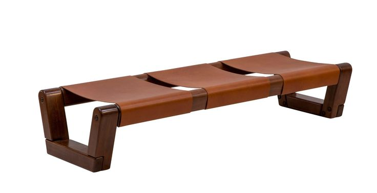 Espasso—with outposts in New York, Los Angeles, Miami, and London—specializes in Brazilian design. Couro ipe-wood-and-leather bench by Zanini de Zanine ($42,250). espasso.com