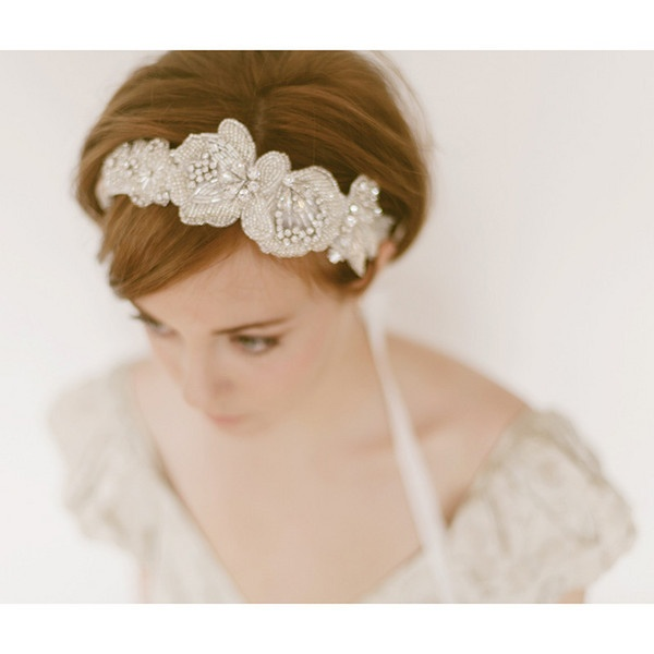 vintage wedding hair band wedding hairaccessory veil
