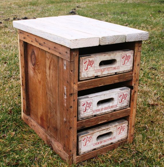 1000 images about crates are great on pinterest sodas for Wooden soda crate ideas