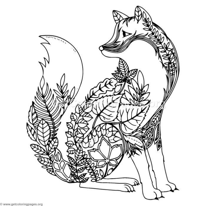 Download For Free Zentangle Wolf Coloring Pages Coloring